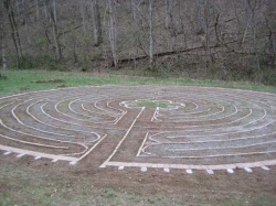 Completed Labyrinth at Penuel Ridge Retreat Center