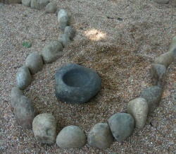Close-up of the Center of Labyrinth at Enchanted Faerie in Goodletsville