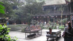 Courtyard with incense holder