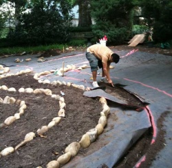 Private Labyrinth under construction